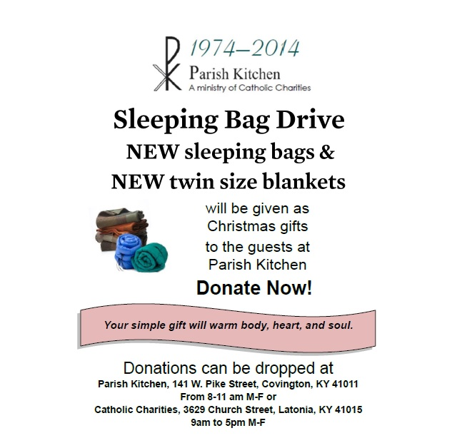 Parish Kitchen Sleeping Bag Drive > Catholic Charities ...
